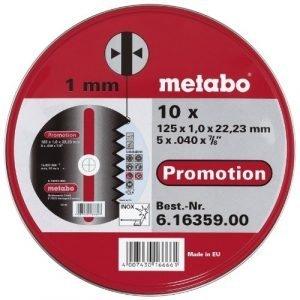 10 DISCO DE CORTE INOX EN CAJA METÁLICA 125X1.0X22.23MM PROMOTION