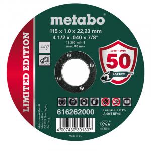 "Disco Corte Inox 115 x 1.0 x 22.23 mm (METABO) 4 1/2"""