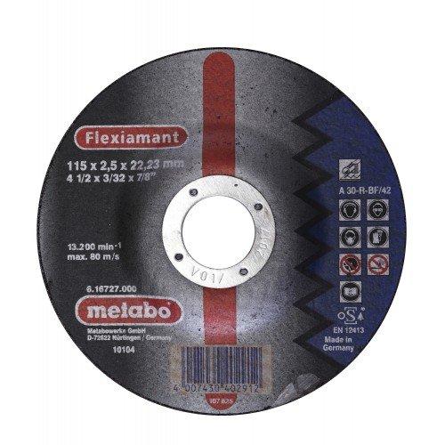 DISCO DE CORTE P/ACEROS ACODADO A 30-R-BF/42 115X2.5X22.2MM FLEXIAMANT