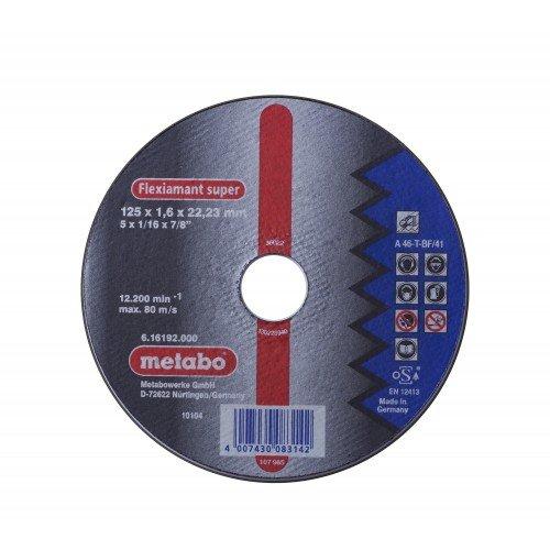 DISCO DE CORTE P/ACEROS SUPER RECTO A 46-T-BF/ 41 125X1.6X22.2MM 12200RPM FLEXIAMANT