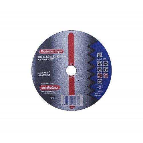 DISCO DE CORTE P/ACERO RECTO A 36-T-BF/41 180X2X22.2MM FLEXIAMANT SUPER