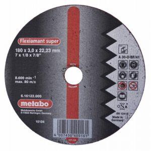 DISCO DE CORTE P/ALUMINIO PLANO A 30-O-BF/42 180X3.0X22.2MM 8500RPM FLEXIAMANT SUPER
