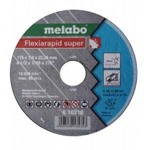 DISCO DE CORTE P/ACERO-INOX RECTO A 46-U-BF/41 115X1.6X22.23MM FLEXIARAPID SUPER
