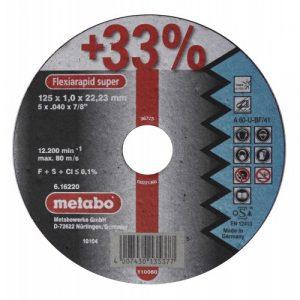 DISCO DE CORTE P/ACERO-INOX RECTO A 60-U-BF/41 125X1.0X22.2MM FLEXIARAPID SUPER