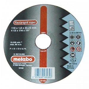 DISCO DE CORTE P/ACER- INOX RECTO A 36-U-BF/41 150X1.6X22.2MM FLEXIARAPID SUPER