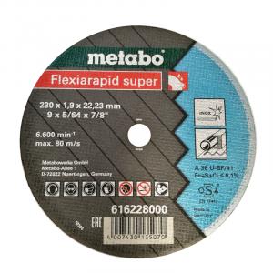 "Disco Corte Inox 230 x 1.9 x 22.2 mm (METABO) 9"""